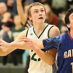 1st quarter Cloverleaf# 22 Ryan Gutschow and Ravenna # 15 go for a rebound  (Glen Rutherford / Gazette)